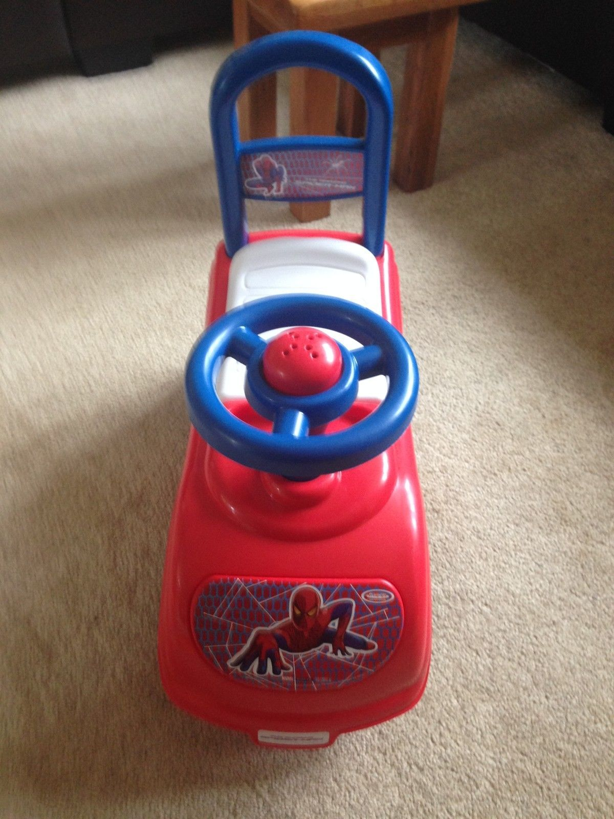 Spider Man Sit And Ride On Toy Storage Under Seat Horn And